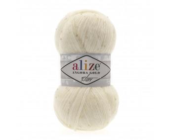 Farbe 01 cream - Alize Angora Gold Star 100g