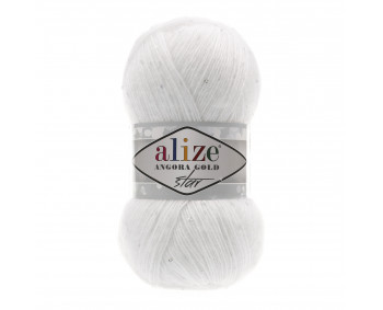 Farbe 55 weiss - Alize Angora Gold Star 100g