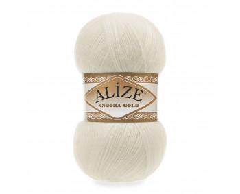 Farbe 01 creme - Alize Angora Gold Uni 100g