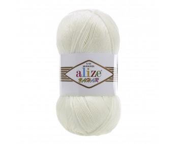 Farbe 01 cream - ALIZE Bahar Uni 100g
