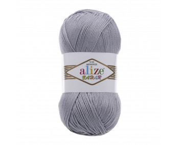 Farbe 21 grau - ALIZE Bahar Uni 100g