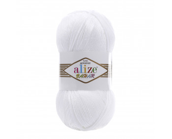 Farbe 55 weiss - ALIZE Bahar Uni 100g