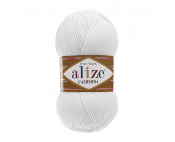 Farbe 55 weiss - Alize Cashmira 100g - Pure Wool