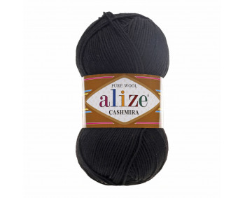 Farbe 60 schwarz - Alize Cashmira 100g - Pure Wool