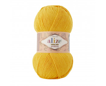 Farbe 216 gelb - Alize Cotton Gold Pratica 100g