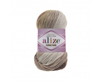 Farbe 3300 - ALIZE Cotton Gold Batik 100g