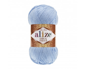 Farbe 350 blue - Alize Diva Stretch 100g