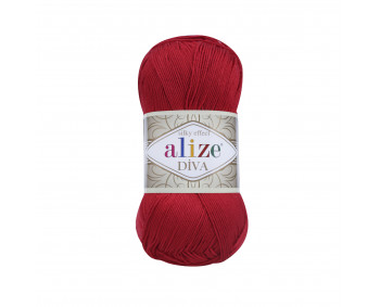 Farbe 106 rot - ALIZE Diva Uni Microfaser 100g