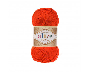 !NEU! Farbe 37 orange - ALIZE Diva Uni Microfaser 100g