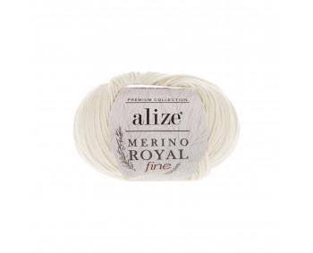 Farbe 62 creme - Alize Merino Royal Fine 50g - Premium Collection