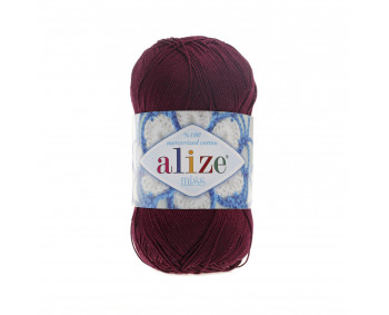 Farbe 495 bordo - ALIZE Miss 50g Baumwolle