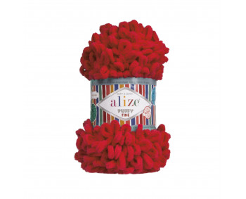 Farbe 56 rot - Alize Puffy Fine 100g