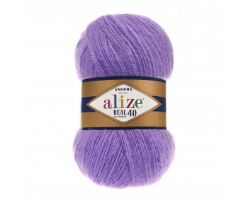 Farbe 206 amethyst - Alize Real 40 Uni 100g