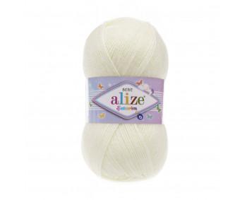 Farbe 01 cream - ALIZE Sekerim Baby Uni 100g