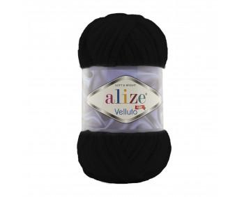 Farbe 60 schwarz - Alize Velluto 100g - Chenille Garn