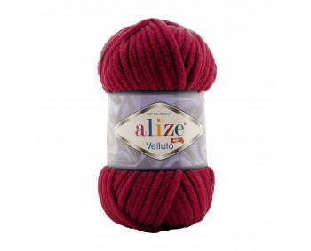 Farbe 107 cherry - Alize Velluto 100g - Chenille Garn