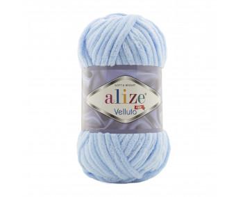 Farbe 218 babyblau - Alize Velluto 100g - Chenille Garn