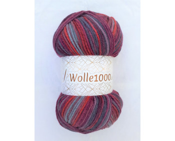 !NEU! Wolle1000 - Batik 200g - Farbe 42  bordo-grau