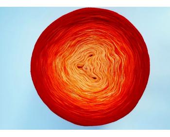 #504 - Quarz-Orange-Rot - 100% Baumwolle - Bobbel