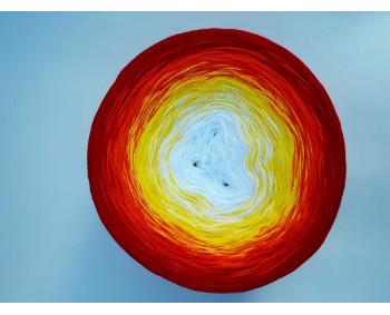 #506 - Weiss-Gelb-Orange-Rot - 100% Baumwolle - Bobbel
