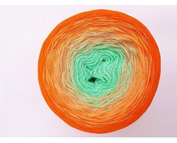 #508 - Mint-Quarz-Orange - 100% Baumwolle - Bobbel