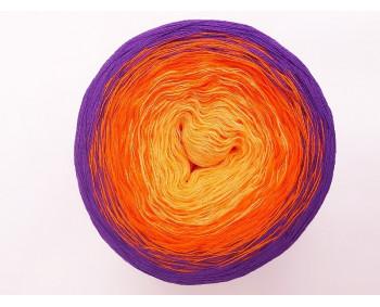 #509 - Quarz-Orange-Lila - 100% Baumwolle - Bobbel