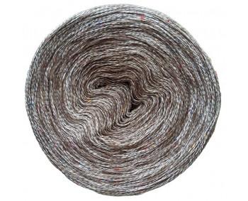 607 - 100% Baumwolle - Mix Bobbel mit Tweed - Braun-Beige-Tweed - 1000m