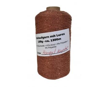 Beilaufgarn mit Lurex - 100g ca. 1300m - Honey/Kupfer