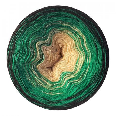 Farbverlauf 10Hochbausch-Acryl (Bambu-Gras-Schwarz)