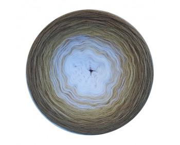 Farbverlauf 12Hochbausch-Acryl (Weiß-Bambu-Kaschmir)