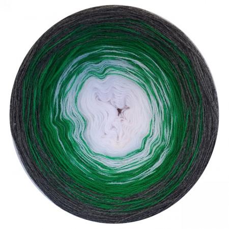 Farbverlauf 14Hochbausch-Acryl (Weiß-Grün-Grau)