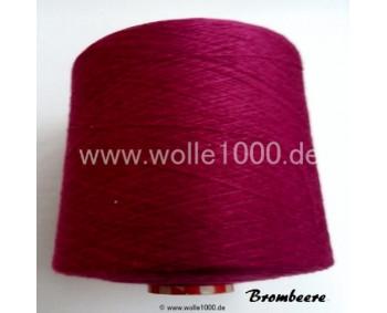 Farbe Brombeere - gefachtes Garn - Uni-Farben