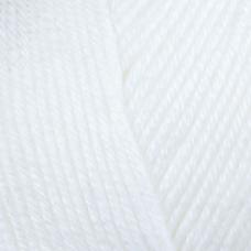 Farbe 10 weiß - Mercan Uni Microfaserwolle 100g