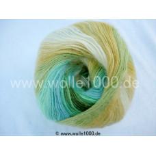 556-17 gelb-grün-türkistöne - Papatya Angora Batik 100g