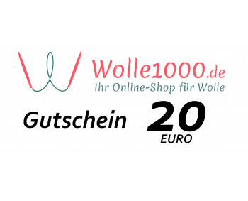 Geschenkgutschein im Wert von 20 EURO