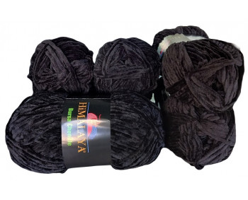 Himalaya Bursa Chenille - schwarz - 5er Pack - Sonderposten