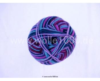 Farbe 140-02 lila-beere-türkis - Himalaya Socks Sockenwolle 100g