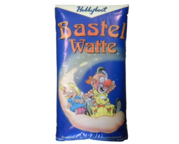 Bastelwatte - weiß - 300g Beutel