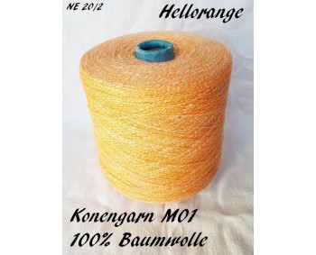 Konengarn M01 - Hellorange - 100% Baumwolle -  ca. 850g
