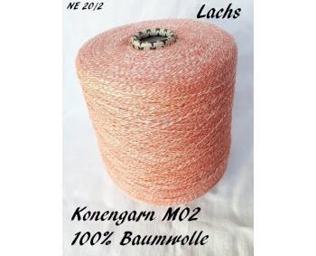 Konengarn M02 - Lachs - 100% Baumwolle -  ca. 925g