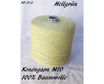 Konengarn M10 - Hellgrün - 100% Baumwolle -  ca. 875g