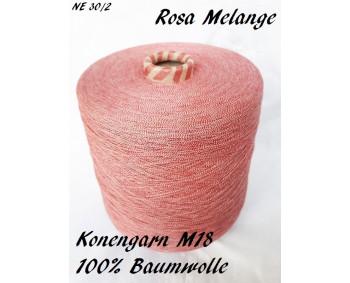 Konengarn M18 - Rosa Melange - 100% Baumwolle -  ca. 1000g