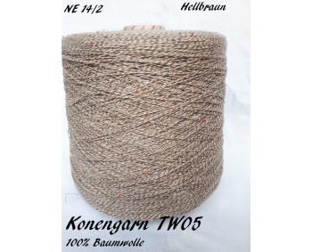 Konengarn TW05 - Hellbraun - 100% Baumwolle Tweed -  ca. 850g
