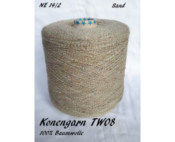 Konengarn TW08 - Sand - 100% Baumwolle Tweed -  ca. 825g