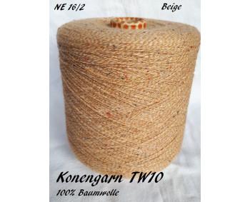 Konengarn TW10 - Beige - 100% Baumwolle Tweed -  ca. 850g