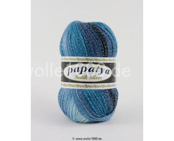 555-19 - Papatya Batik Silver - blautöne 100g