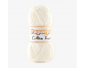 Farbe 0010 weiß - Papatya Cotton Touch - 50g