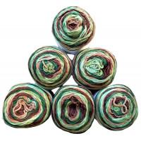 Sonderposten Sparpack Bulky 6x150g = 900g  Farbe : 212 Braun-Beige-Grün
