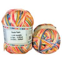 Sock Yarn - Acryl - 100g - Sonderposten - Farbe S110