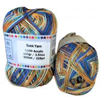 Sock Yarn - Acryl - 100g - Sonderposten - Farbe S112